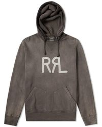 RRL - Garment Dyed Pullover Hoody - Lyst