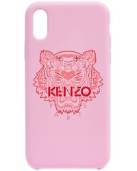 KENZO Iphone X Rubber Tiger Case - Pink