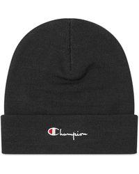 Champion Script Logo Beanie - Black