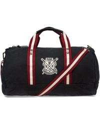 Polo Ralph Lauren Rowing Club Embroidered Holdall - Black