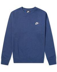 Nike Club Crew Sweat - Blue