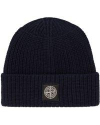 Stone Island - Solid Knit Hat - Lyst