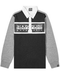 Napapijri Emei Rugby Shirt - Black