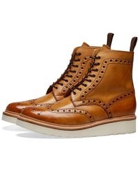 Grenson Fred V Brogue Boot - Brown