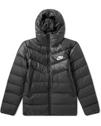 Nike - Down Filled Hooded Windrunner Jacket - Lyst