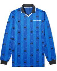 Alexander Wang Long Sleeve Soccer Jersey - Blue