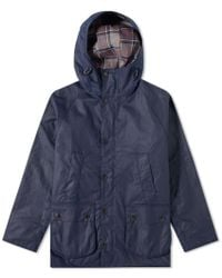 Barbour Sl Bedale Hooded Wax Jacket - Japan Collection - Blue