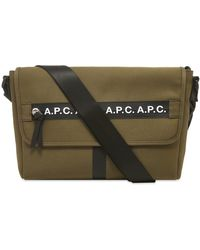 A.P.C. Taped Seam Messenger Bag - Green