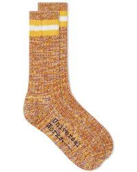 Universal Works Everyday Stripe Sock - Yellow
