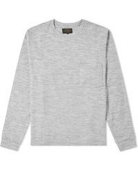 Beams Plus - Long Sleeve Wool Pocket Tee - Lyst
