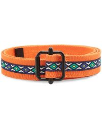 Stussy Woven Taped Web Belt - Orange
