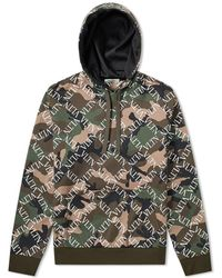 d4d755d887c13 Stone Island Check Grid Camouflage Hoodie in Black for Men - Lyst