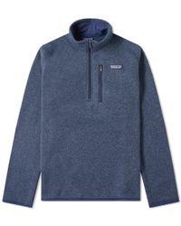 Patagonia Better Jumper 1/4 Zip Jacket - Blue
