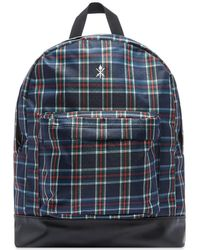 Opening Ceremony Plaid Backpack - Blue