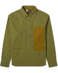 Bleu De Paname Frigate Popover Shirt - Green