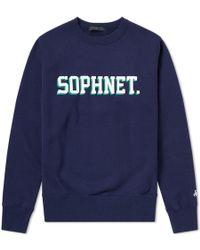 Sophnet - Logo Crew Sweat - Lyst