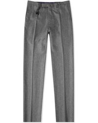 Incotex Slim Fit Wool Trouser - Gray