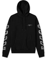 Off-White c/o Virgil Abloh - Black Diagonal Arrows Logo Hoodie - Lyst