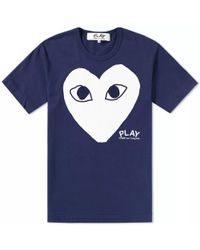Play Comme des Garçons - Comme Des Garcons Play Printed Heart Logo Tee - Lyst