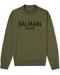 Balmain - Paris Intarsia Logo Knit - Lyst