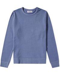 Officine Generale - Garment Dyed New Sweat - Lyst