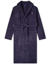 Polo Ralph Lauren Shawl Collar Robe - Blue