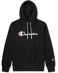 Champion Hooded Fleece Sweatshirt - Black