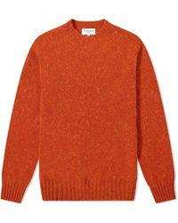 YMC Suedehead Crew Knit - Orange