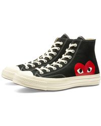 COMME DES GARÇONS PLAY Black Play X Converse 70s Chuck Taylor All Star High Shoe