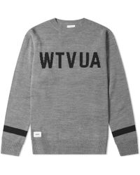WTAPS Crew Knit - Gray