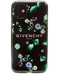 Givenchy Floral Logo Iphone Xi Case - Black