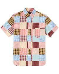 Beams Plus - Short Sleeve Patchwork Shirt - Lyst