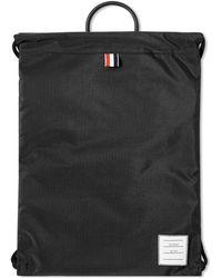 Thom Browne Drawcord Weave Bag - Black