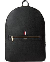 Thom Browne - Pebble Grain Leather Backpack Black - Lyst