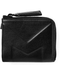 Moncler Leather Embossed Coin Wallet - Black