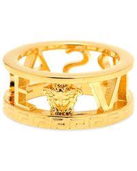 Versace - Logo Ring - Lyst