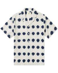Folk - Camp-collar Polka-dot Cotton Oxford Shirt - Lyst