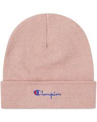 Champion Script Logo Beanie - Pink