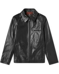 A.P.C. Leather Riders Jacket - Black