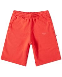 Off-White c/o Virgil Abloh Unfinished 3m Sweat Short - Red