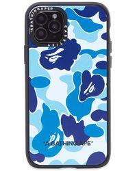 A Bathing Ape X Casetify Abc Camo Iphone 11 Pro Case - Blue