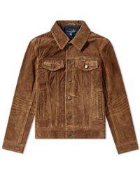 Polo Ralph Lauren Suede Trucker Jacket - Brown