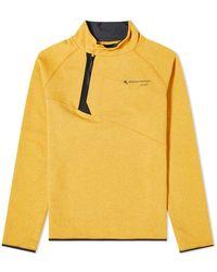 Klättermusen Falen Asymmetric Quarter Zip Fleece - Yellow