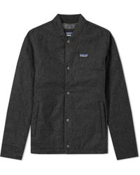 Patagonia - Recycled Wool Bomber Jacket - Lyst