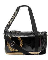 Fred Perry Fred Perry X Art Comes First Barrel Bag - Black