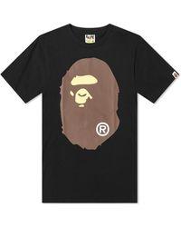 A Bathing Ape Big Ape Head Tee - Black