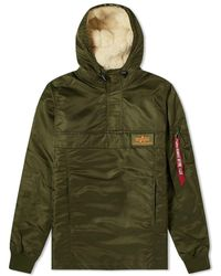 Alpha Industries - Hooded Popover Anorak - Lyst