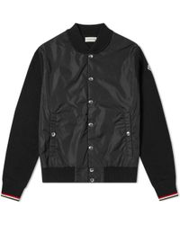 Moncler - Maglione Nylon Wool Bomber Jacket - Lyst