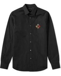 Alexander McQueen Military Badge Logo Shirt - Black