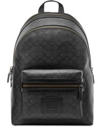 COACH Signature Academy Leather Backpack - Black